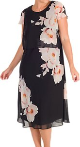 Read more about Chesca floral print layered chiffon dress black blush