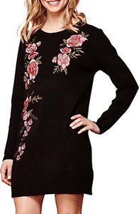 Read more about Yumi embroidered jumper dress black