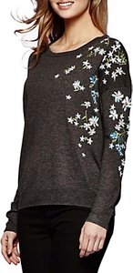 Read more about Yumi embroidered floral jumper dark grey
