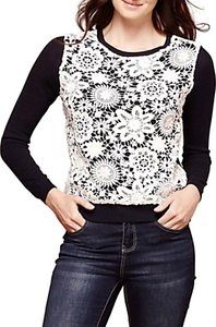 Read more about Yumi lace panel jumper dark navy