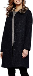 Read more about Yumi faux fur trim coat dark navy
