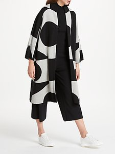 Read more about Patternity john lewis oversized signature intarsia cardigan black white