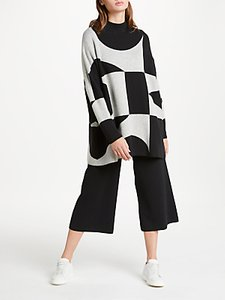 Read more about Patternity john lewis oversized signature intarsia jumper black white