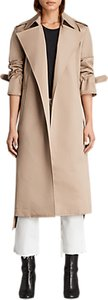 Read more about Allsaints miley trench coat mac sand brown
