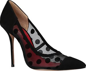 Read more about Kurt geiger sooty polka dot stiletto heel court shoes black