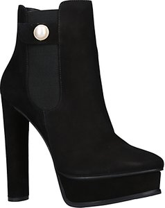 Read more about Kg by kurt geiger radar block heeled platform ankle boots black leather