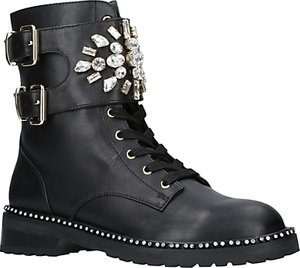 Read more about Kurt geiger stoop embellished ankle boots black leather