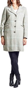 Read more about Four seasons single breasted check coat pale grey