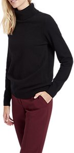 Read more about Jaeger long sleeve cashmere roll neck jumper black