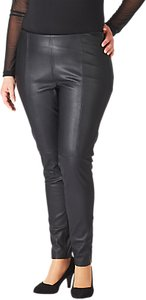 Read more about Adia leather look trousers black
