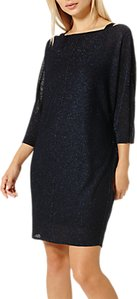 Read more about Damsel in a dress saira shimmer knitted dress cobalt black