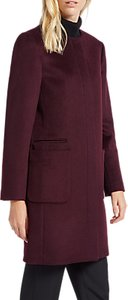 Read more about Jaeger collarless wool coat plum