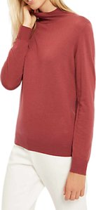 Read more about Jaeger zip roll neck jumper wild ginger