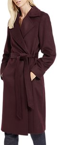 Read more about Jaeger wool wrap coat plum