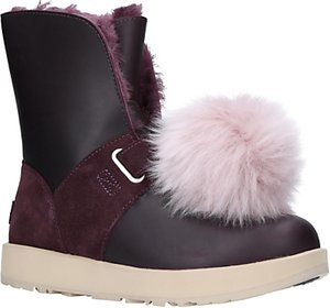 Read more about Ugg isley sheepskin waterproof ankle boots purple leather