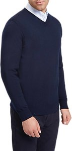 Read more about Jaeger v-neckline knit jumper navy