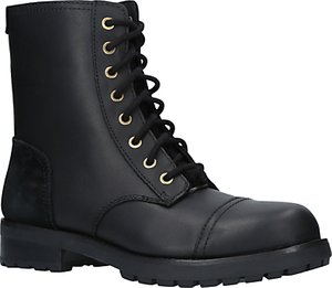 Read more about Ugg kilmer lace up ankle boots black leather suede