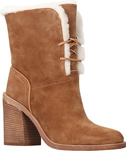 Read more about Ugg jerene sheepskin block heel ankle boots brown