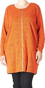 Read more about Adia long zipper jacquard cardigan orange rust