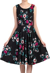 Read more about Jolie moi floral print wrap belted dress black floral