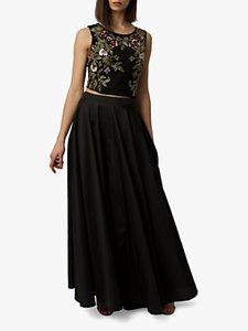 Read more about Raishma taffeta maxi skirt black