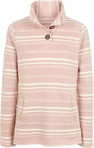 Read more about Fat face lowick pattern half neck jumper soft rose