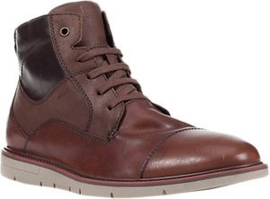Read more about Geox uvet lace-up leather boots brown