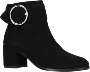 Read more about Carvela snore block heeled ankle boots black suede