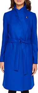 Read more about Ted baker samiye long wrap trench coat bright blue