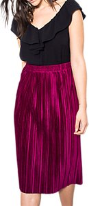 Read more about Wild pony elasticated waist pleated midi skirt fuchsia