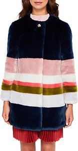 Read more about Ted baker ramani missisippi faux fur coat mid blue