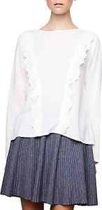 Read more about Compa a fant stica ruffle detail blouse white