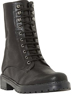 Read more about Dune rayko lace up calf boots black