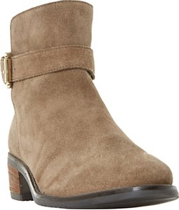 Read more about Dune pheobie block heeled ankle chelsea boots taupe