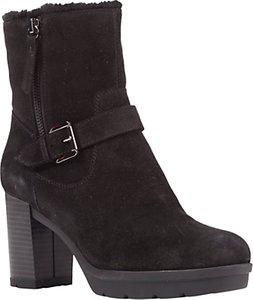 Read more about Geox abrienne block heeled ankle boots black suede