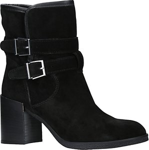 Read more about Kg by kurt geiger buckle block heeled ankle boots black suede