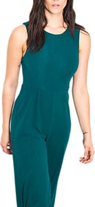 Read more about Wild pony tie back one piece wide leg jumpsuit green