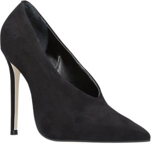 Read more about Carvela alistair pointed toe stiletto heeled court shoes black suede