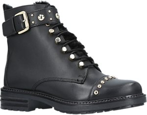 Read more about Carvela son lace up ankle boots black leather