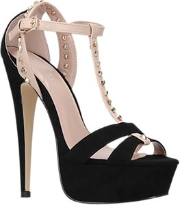 Read more about Carvela krystal platform stiletto heeled sandals black