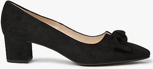 Read more about Peter kaiser binella mid block heel bow court shoes black suede