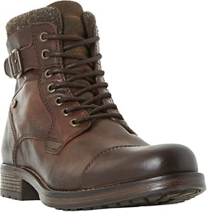 Read more about Dune churchill buckled lace up boots brown