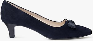 Read more about Peter kaiser saris pointed toe bow court shoes navy suede