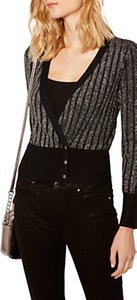 Read more about Karen millen metallic knitted cardigan pewter