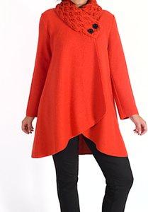 Read more about Chesca arran collar coat orange