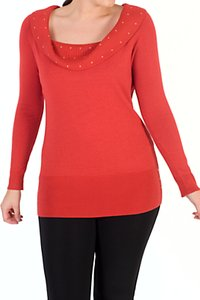Read more about Chesca studded collar jumper orange