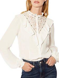 Read more about Karen millen ruffle trim blouse ivory