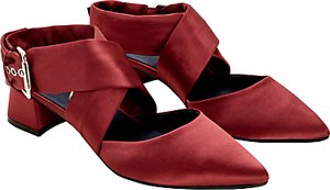 Read more about Finery stella cross strap court shoes blush satin
