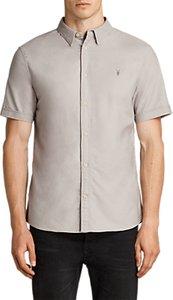 Read more about Allsaints hungtingdon slim fit short sleeve shirt pebble