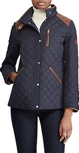 Read more about Lauren ralph lauren shoulder patch quilted jacket dark navy